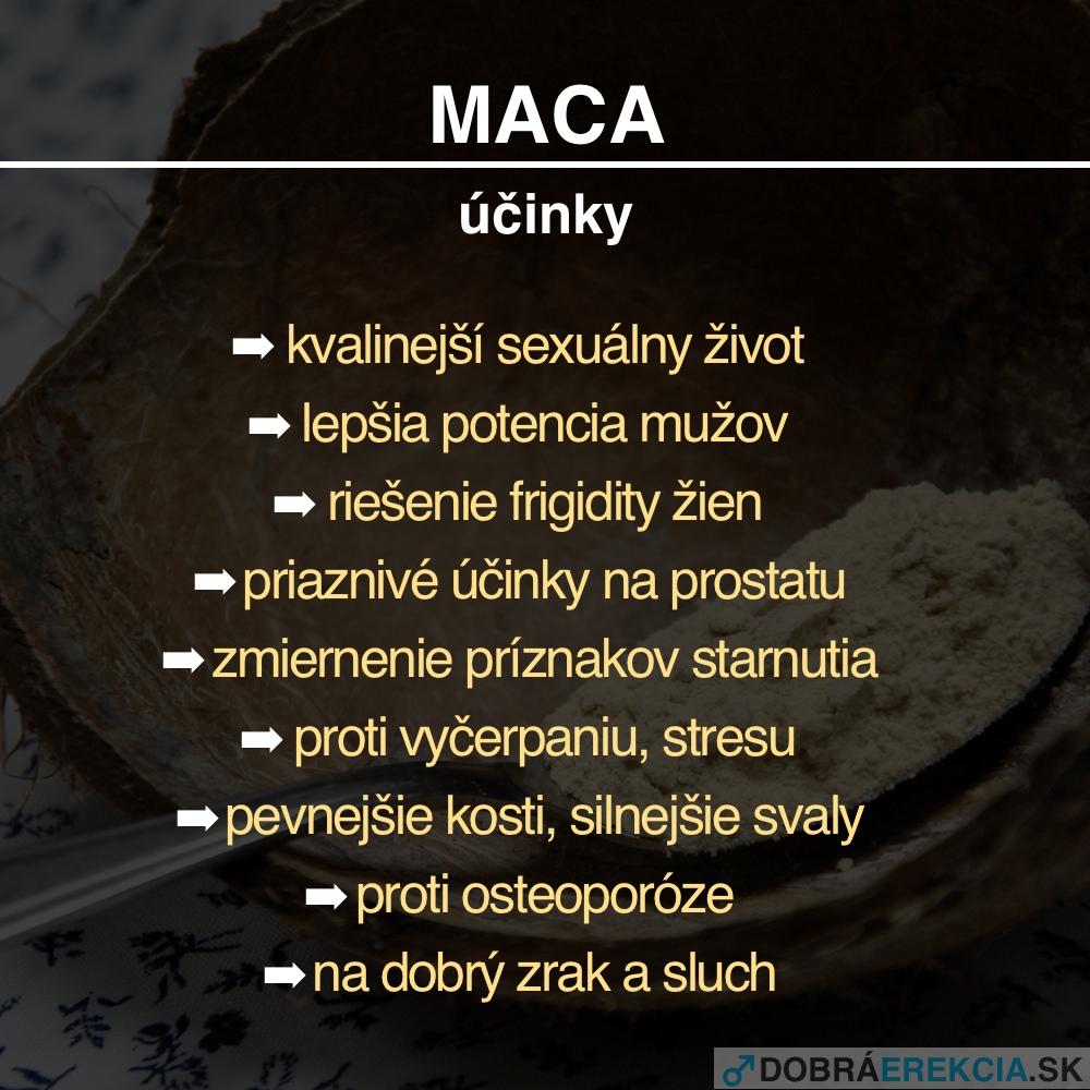 Maca - účinky