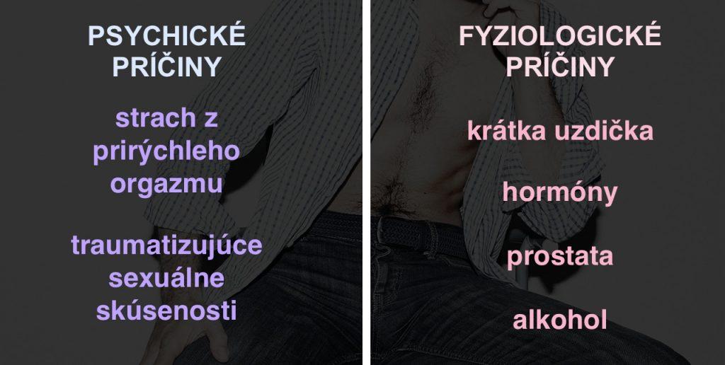 Príčiny a problém predčasnej ejakulácie